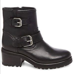Steve Madden Gain Black Leather Boots